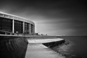 Foto de longa exposição do Shedd Aquarium, em Chicago.