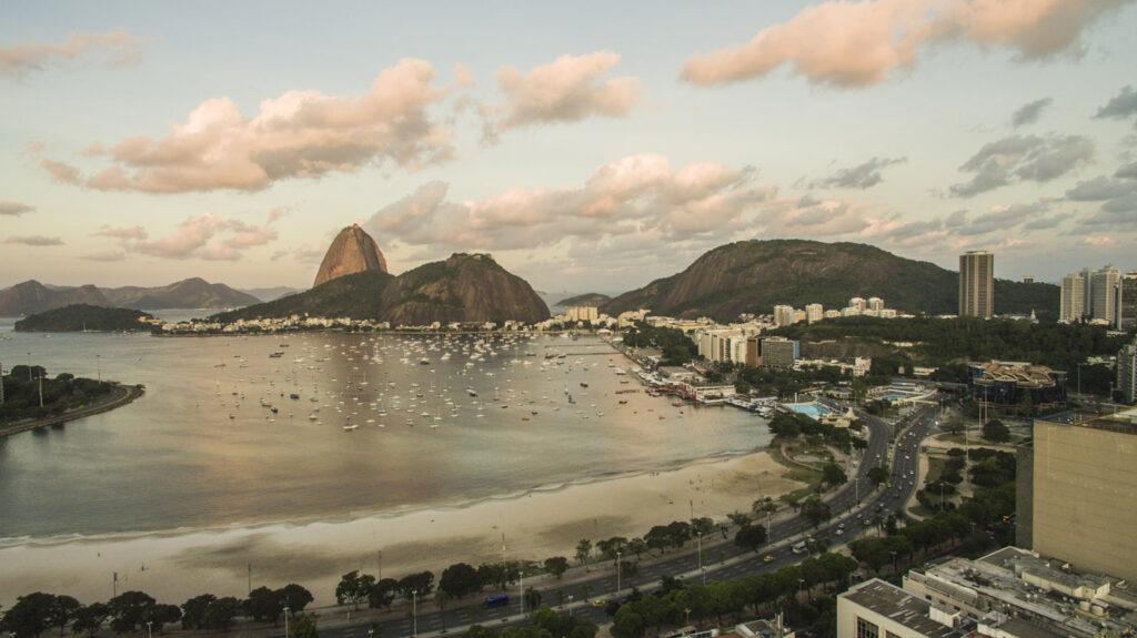 Foto aérea Enseada de Botafogo
