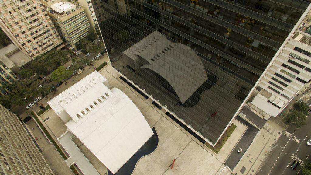 Foto aérea do Espaço Cultural Oscar Niemeyer