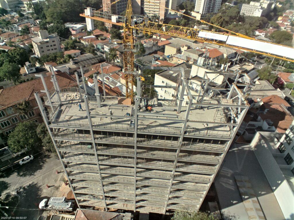 timelapse de construção de edifício residencial